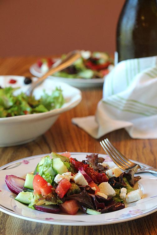 Greek Salad, Served