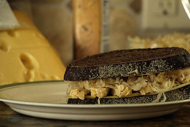 Tempeh Reuben Sandwich