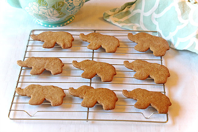 World Elephant Day Thin Spice Cookies (Pepparkakor)