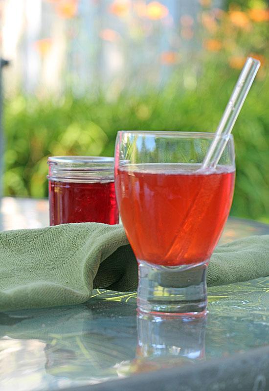 Homemade Strawberry Soda, up close