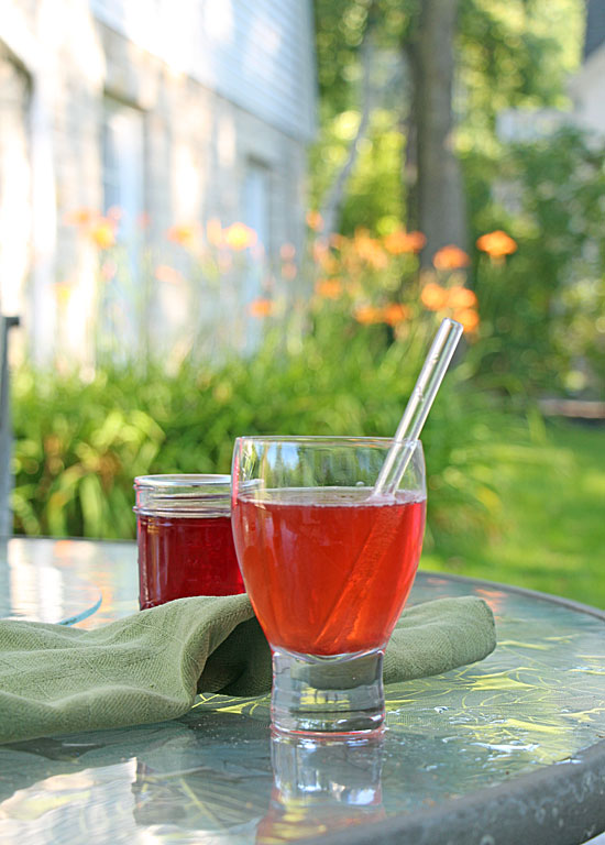 Soda with Strawberry Simple Syrup
