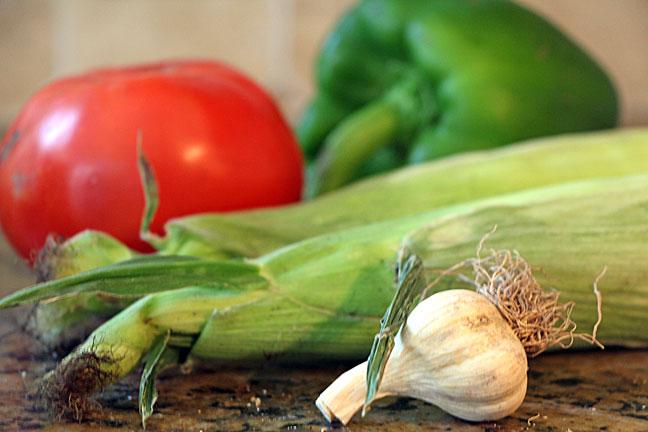 fresh Three Sisters Stew Ingredients