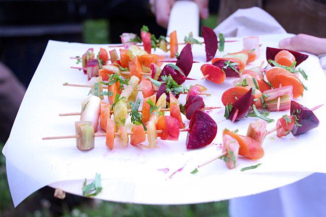 Pickled Vegetable Kabobs