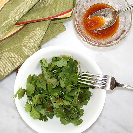 Spicy Cilantro Salad from Above