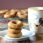 Maple Glazed Whole Wheat Pumpkin Donuts