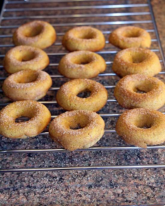 Cinnamon Sugar Whole Wheat Pumpkin Donuts