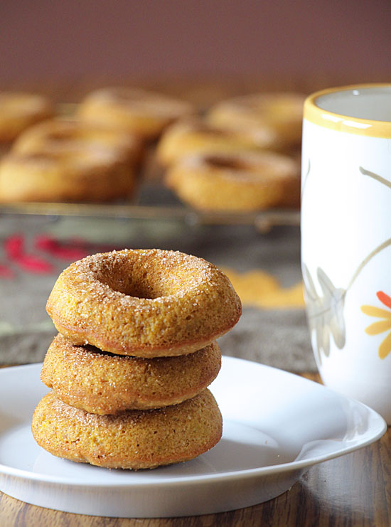 Whole Wheat Pumpkin Donuts Served