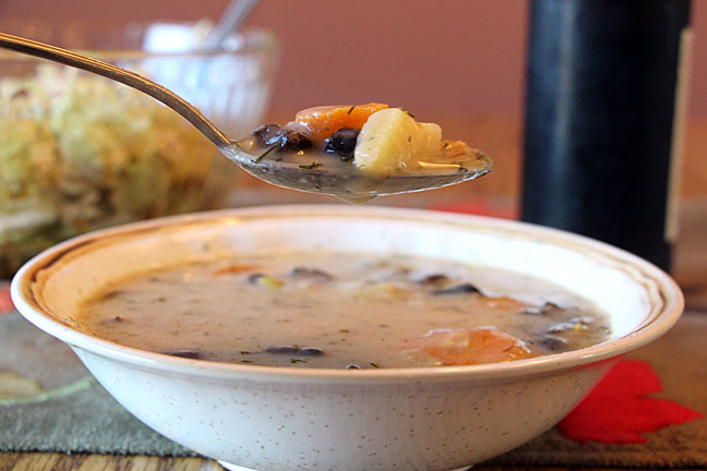 Fall into Winter: Russian Mushroom and Potato Soup