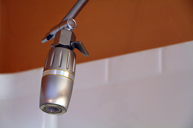 Love my low flow, aerating shower head!