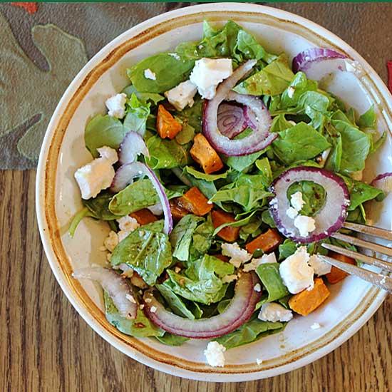 Sweet Potato, Arugula & Feta Salad