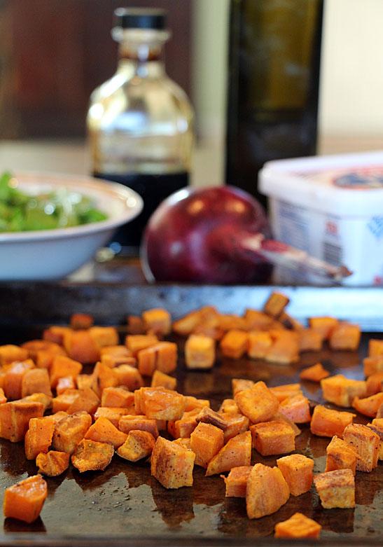 Sweet Potato, Arugula & Feta Salad Ingredients