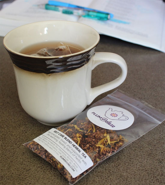 Plum Deluxe Organic Tea While Studying
