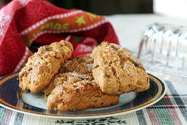 Whole Wheat Gingerbread Scones