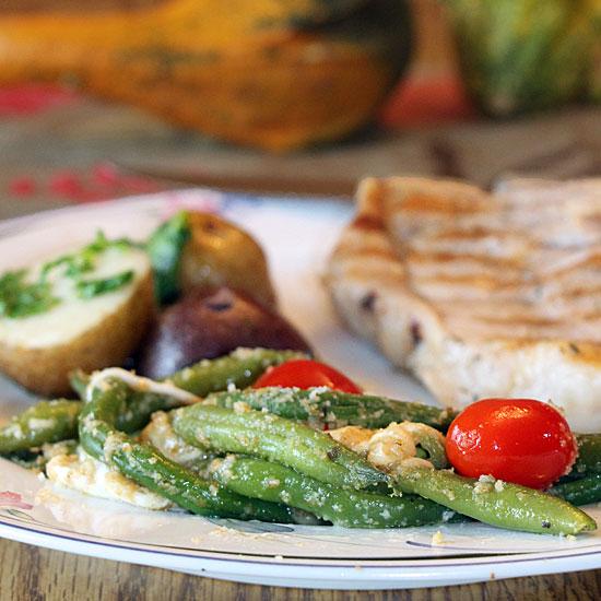 Green Bean Gratinata, served