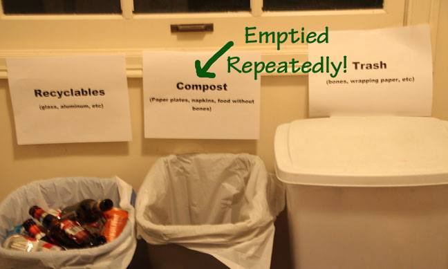 Tips for Green Holiday Parties: Compost Waste