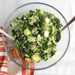 Kale & Brussels Sprout Salad from above