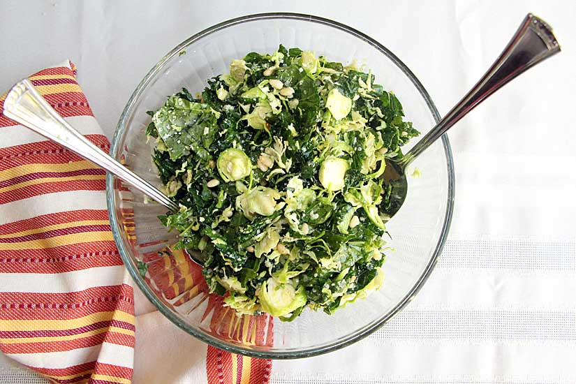 Fall Kale and Brussels Sprout Salad