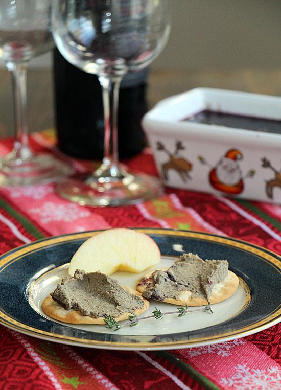 Mushroom and Liver Pate on plate