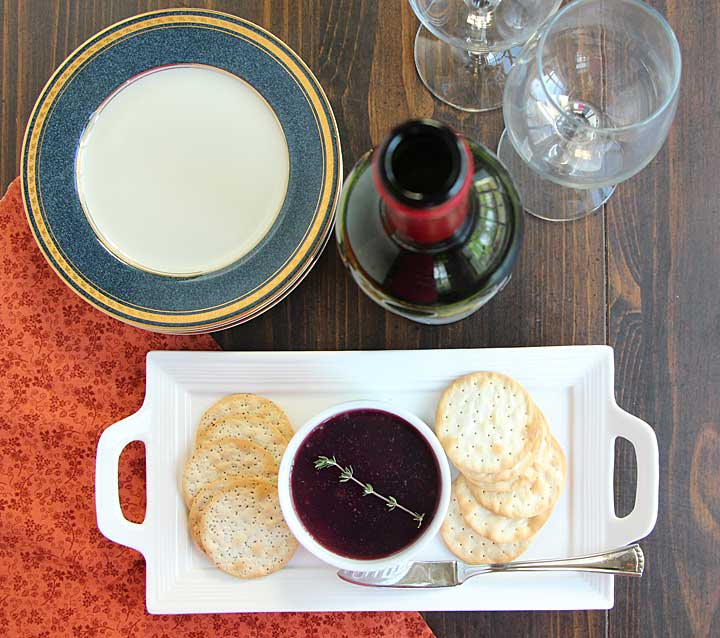 Wine Glazed Mushroom and Liver Pate