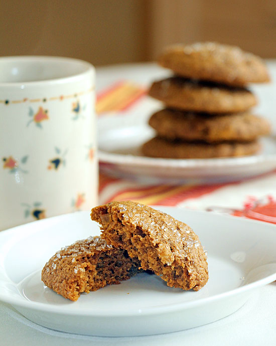 Pumpkin Ginger Cookies with Coffee