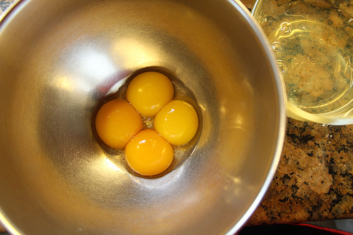Rich with egg yolks