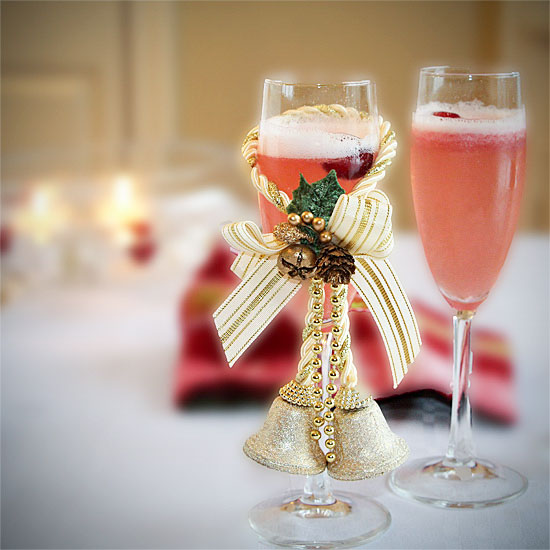 Sorbet & Champagne Cocktail