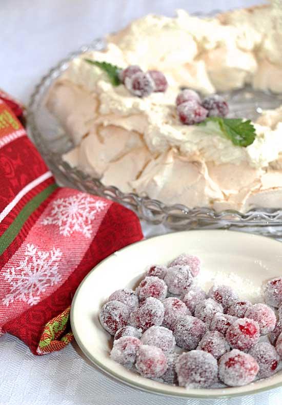 Sugared Cranberry Garnish