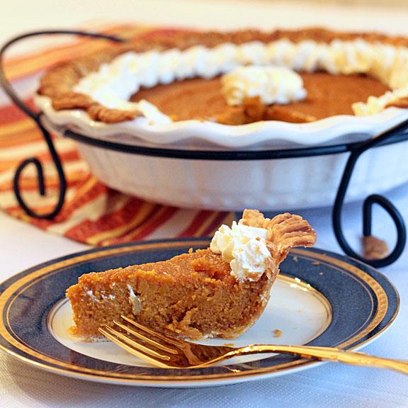 A piece of carrot pie