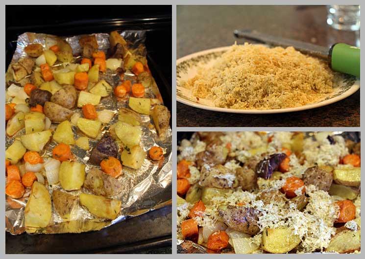 Preparing Blue Cheese Roasted Vegetables