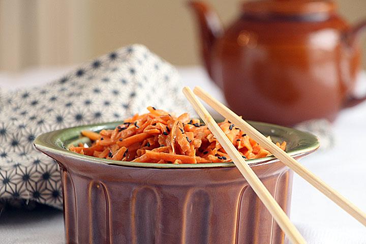 Thai Carrot Slaw, Served