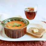Tomato Stilton Soup with bread