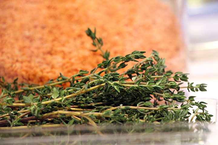 red lentils and thyme