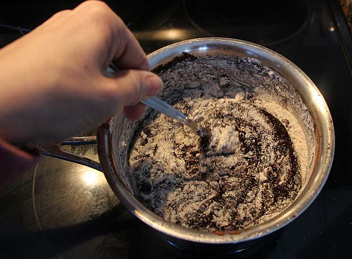 Mix up brownies in one saucepan