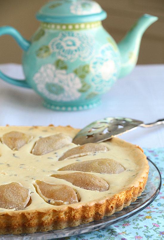 Pear Lavender Mascarpone Tart