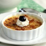 Irish Coffee Creme Brulee Served