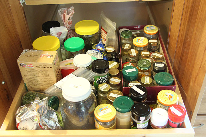 Vacation Home Spice Drawer