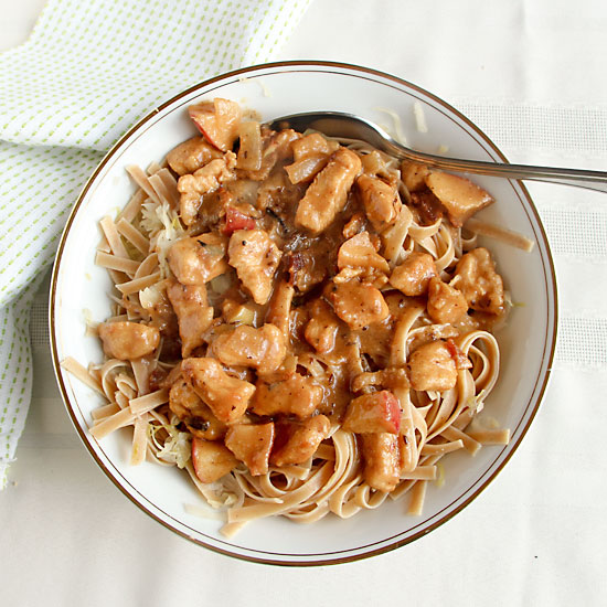 Cider Chicken & Noodles from above