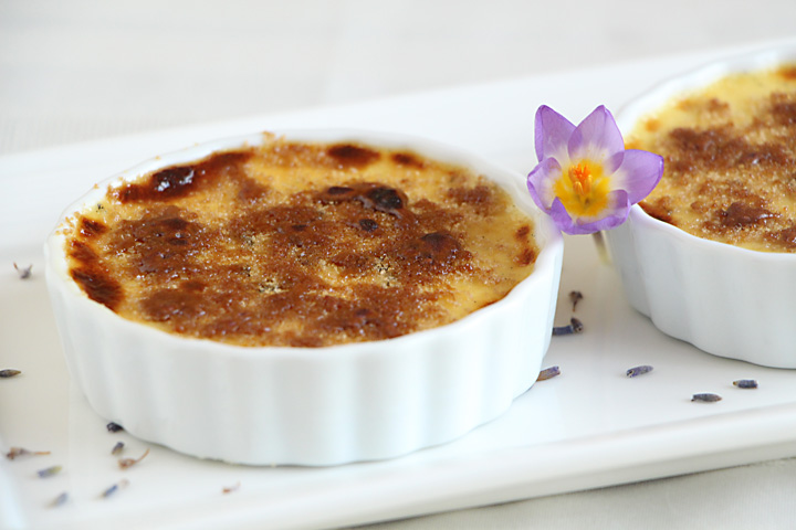 Lavender Crème Brulee (No Torch Needed)