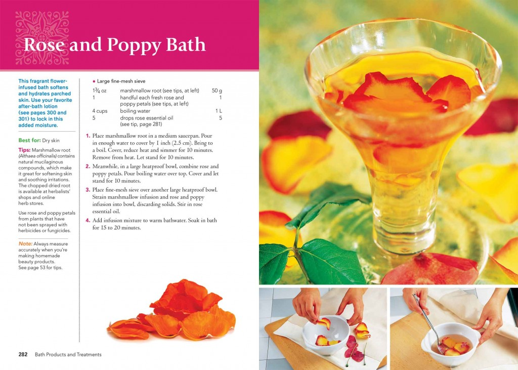 Rose and Poppy Bath: Homemade Beauty Products