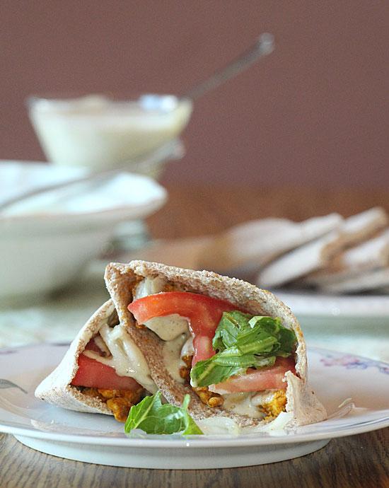Big Spice Racks make for easy Schwarma Spiced Sandwiches