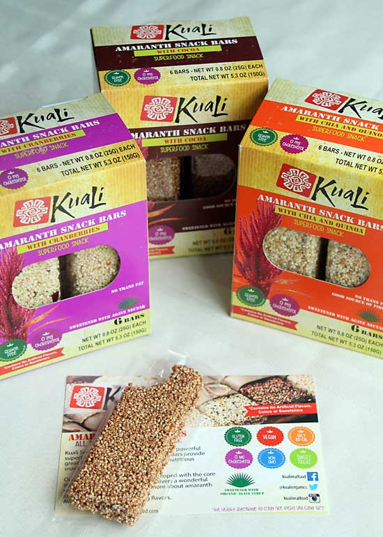 Kuali Amaranth Bars for a healthier care package