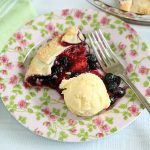 Strawberry Blueberry Galette a la mode
