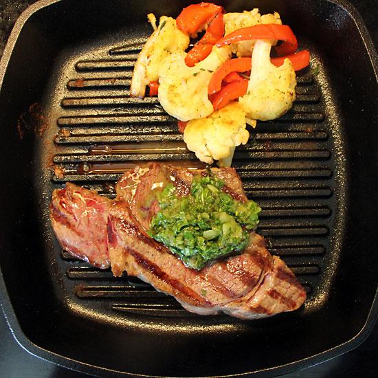 Steak with Chimichurri Sauce & a Tour