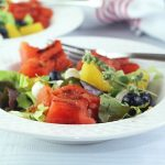 Grilled-fruit-salad-served