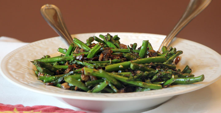Asparagus & Mushrooms closeup