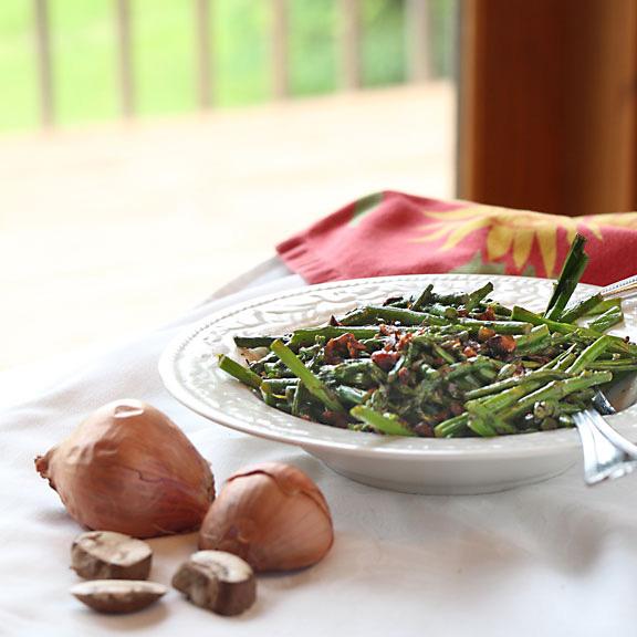 Asparagus & Mushrooms, Served