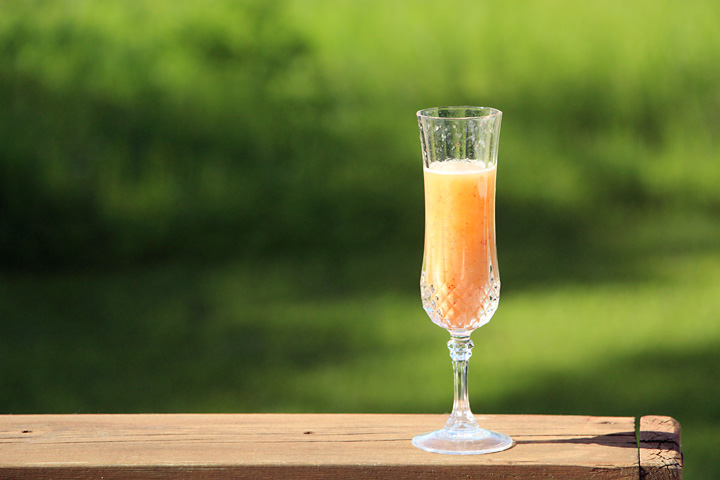 A Peach Bellini on the Deck