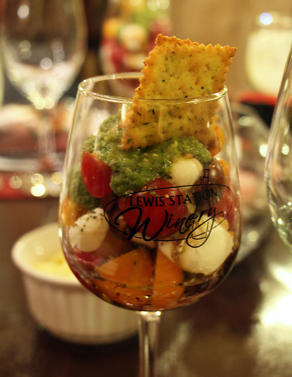 Caprese Salad in a Glass - another fine use for fresh mozzarella