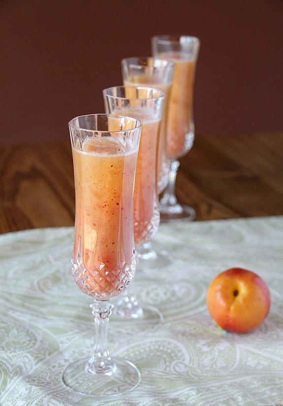 Refreshing Peach Bellini Art Of Natural Living