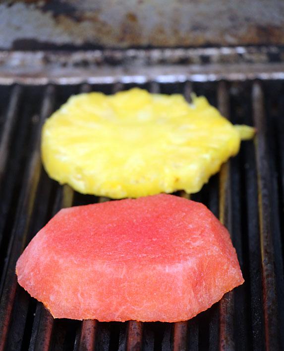 Grilling fruit